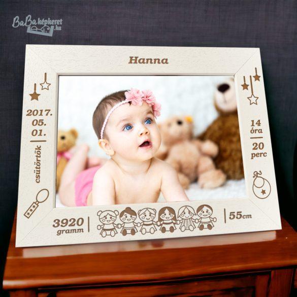 Baba képkeret: babás
