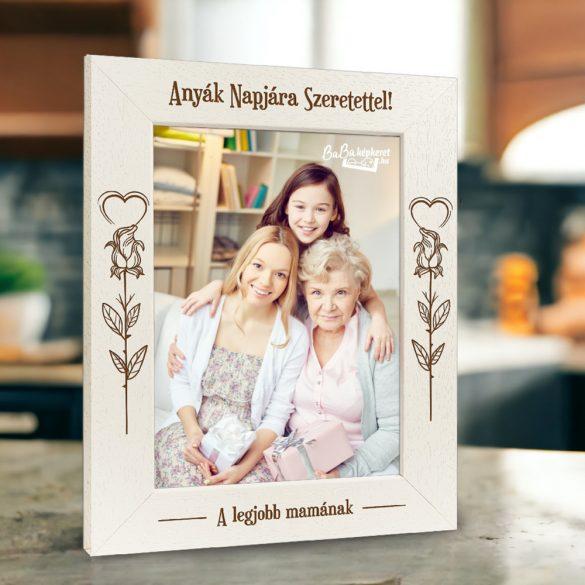 Anyák napi képkeret: Rózsaszál (álló)
