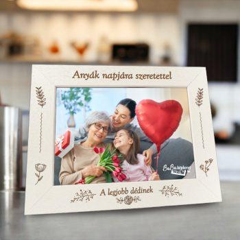 Anyák napi képkeret: A legjobb Anyu (fekvő)