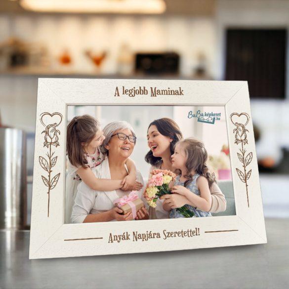 Anyák napi képkeret: Rózsaszál (fekvő)