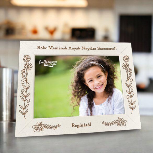 Anyák napi képkeret: Legszebb ajándék (fekvő)