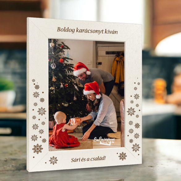 Karácsonyi képkeret : Karácsonyi hópihék  (álló)