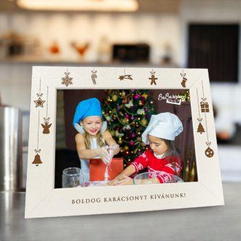 Karácsonyi képkeret : Ünnepi hangulat  (fekvő)