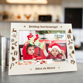 Karácsonyi képkeret : Karácsonyi csodák  (fekvő)