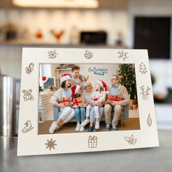Karácsonyi képkeret : Mesebeli álom  (fekvő)