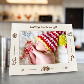 Karácsonyi képkeret : Meglepetés (fekvő)