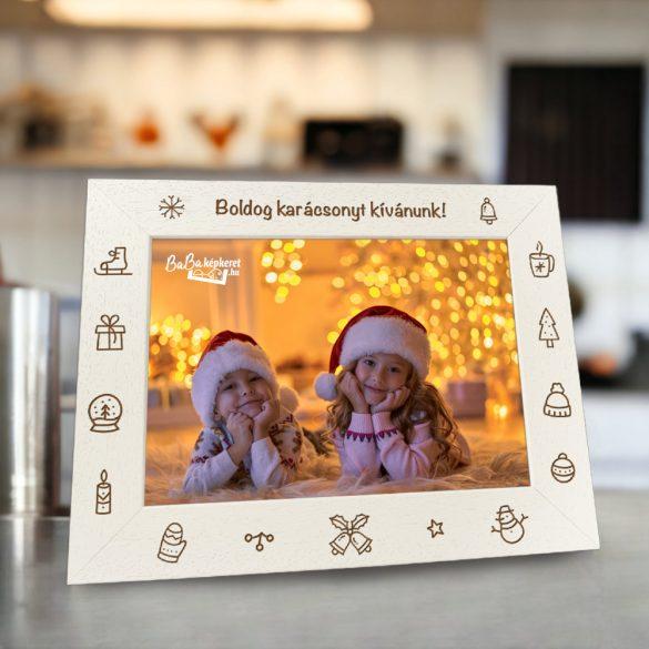 Karácsonyi képkeret : Csengőszó (fekvő)